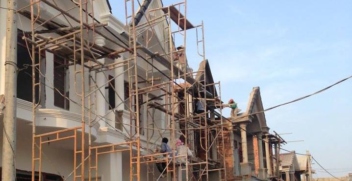Công trình đang thi công giai đoạn xây dựng phần thô
