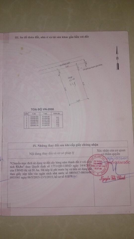 Bán đất gấp gần trung tâm hành chính dĩ an 127m thổ cư toàn bộ giá rẻ sổ hồng riêng