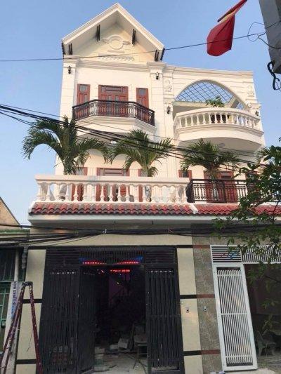 bán nhà lầu dĩ an gần đường nguyễn thị minh khai mặt tiền đường thông 6m , sổ hồng riêng